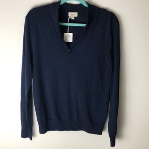 🎉NWT CLUB MONACO merino wool quarter zip